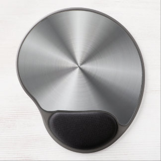Personalized Stainless Steel Metallic Radial Look Gel Mouse Pad