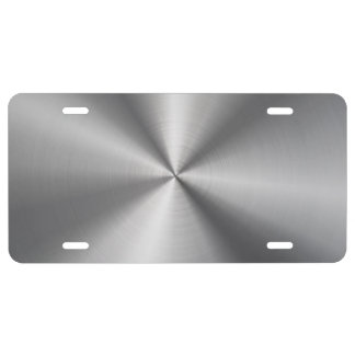 Personalized Stainless Steel Metallic Radial Look License Plate