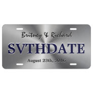 Personalized Stainless Steel Metallic Radial Look License Plate at Zazzle