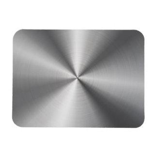 Personalized Stainless Steel Metallic Radial Look Rectangular Photo Magnet