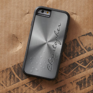 Personalized Stainless Steel Metallic Radial Look Tough Xtreme iPhone 6 Case