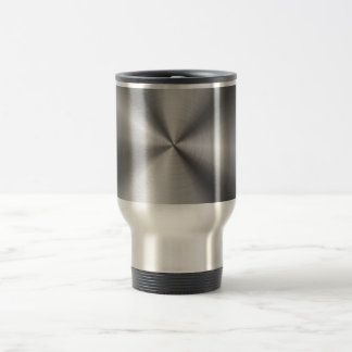 Personalized Stainless Steel Metallic Radial Look Travel Mug