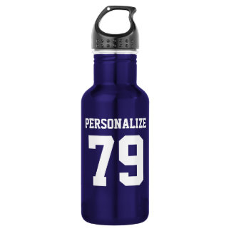 Personalized stainless steel sports water bottle
