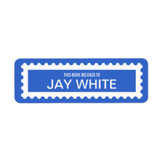 Personalized Stamp Edge Bookplate Label