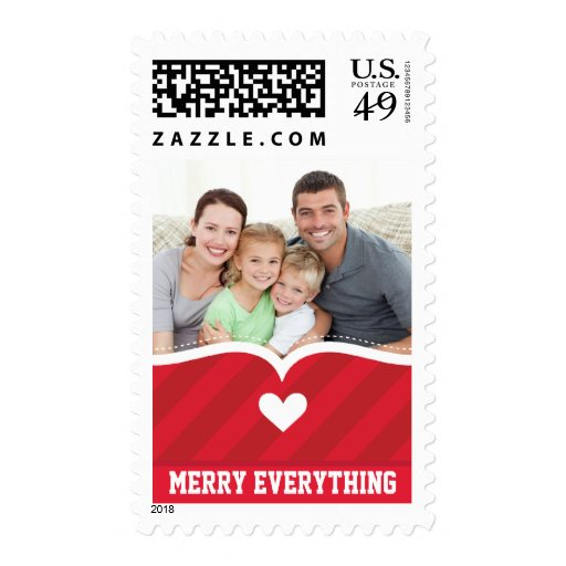 PERSONALIZED STAMPS  :: cupid's bow bright stripe