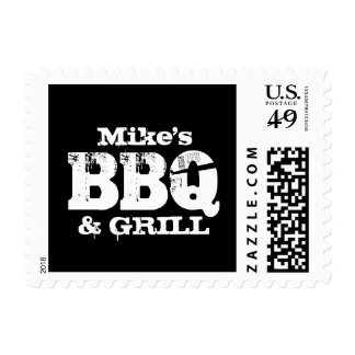Personalized stamps for grill and BBQ party