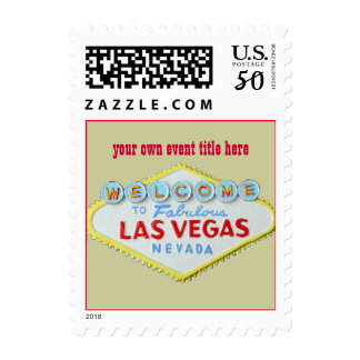 Personalized Stamps for Las Vegas Party Invitation