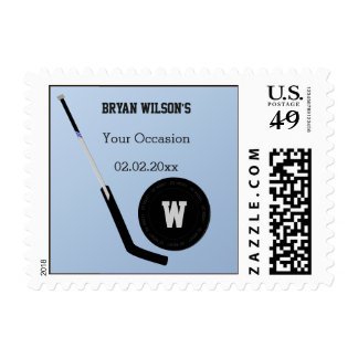 Personalized Stamps Ice Hockey theme