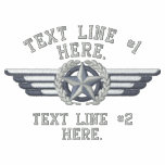 Personalized Star Laurels Badge Pilot Wings Embroidered Polo Shirts