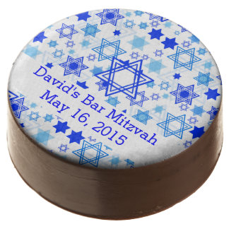 Personalized Star of David Pattern Chocolate Covered Oreo