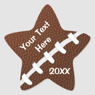 Personalized STAR Shaped Football Stickers