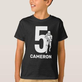 Personalized Star Wars Stormtrooper Birthday T-Shirt