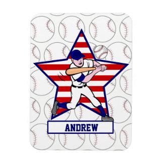 Personalized Stars and Stripes Baseball Batter v1 Magnet
