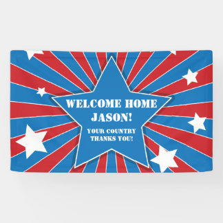 Personalized Stars and Stripes Military Banner