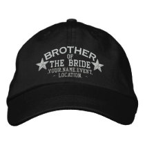 Personalized Stars Brother of the Bride Embroidery Embroidered Baseball Hat