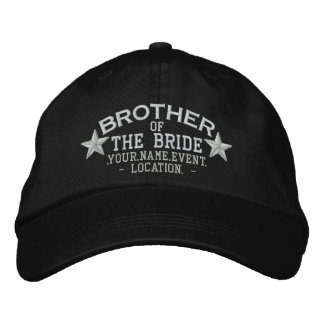 Personalized Stars Brother of the Bride Embroidery Embroidered Hat