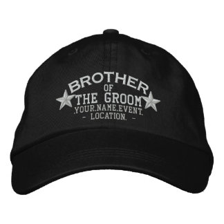 Personalized Stars Brother of the Groom Embroidery Embroidered Hat
