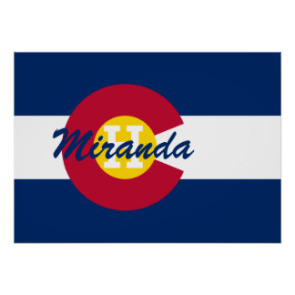 Personalized State Flag of Colorado Poster
