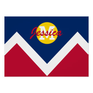 Personalized State Flag of Denver Colorado Poster
