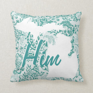 Personalized State Floral Or Any Color Pillow