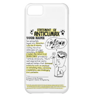 Personalized Statement of Anti-Climax iPhone 5C Case