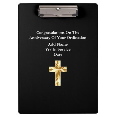 Personalized Stationary Priest Nun Clergy Catholic Clipboard