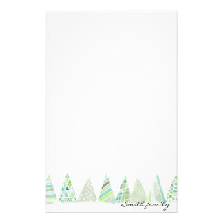 Personalized Stationery - Christmas trees