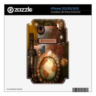 Personalized Steampunk iPhone 2G/3G/3GS Skin iPhone 3G Decal
