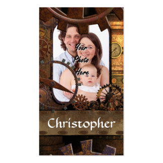 Personalized steampunk machinery Double-Sided standard business cards (Pack of 100)