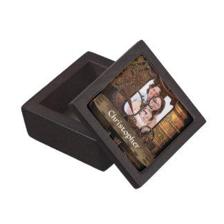 Personalized steampunk machinery jewelry box