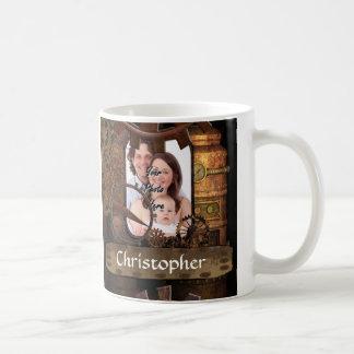 Personalized steampunk machinery classic white coffee mug