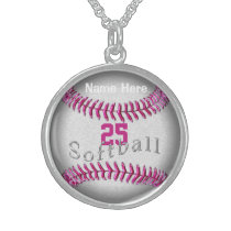 Personalized Sterling Silver Softball Jewelry