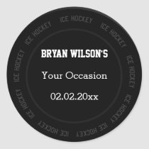 Personalized stickers Ice Hockey theme