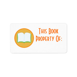 Personalized Stickers Orange Bookplate Gift