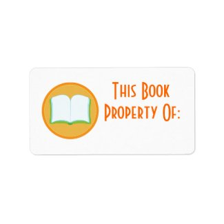 Personalized Stickers Orange Bookplate Gift label