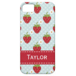 Personalized Strawberry iPhone 5 Case Blue