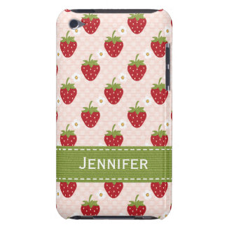 Personalized Strawberry iPod Touch 4th Gen Case-Ma iPod Touch Case-Mate Case