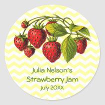 Personalized Strawberry Jam Jar Label