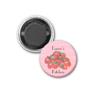 Personalized Strawberry Magnet