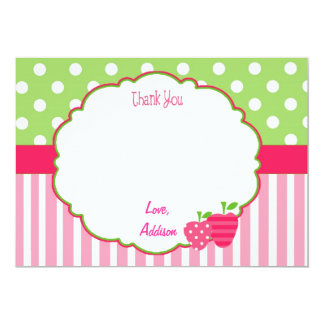 Personalized Strawberry Thank You Card