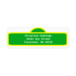 Personalized Street Sign Address Label