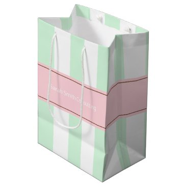 Professional Business Personalized Striped Client Marketing Gift Bag