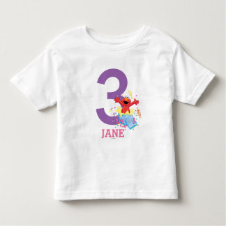Personalized Striped Elmo Birthday T-shirt