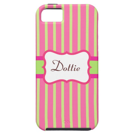 Personalized Striped iPhone 5 Case