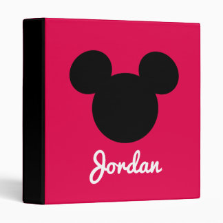 Personalized Striped Mickey Head Silhouette Binder