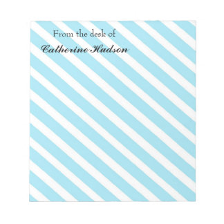 personalized striped modern notepad memo paper
