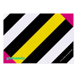 Personalized Striped Note Large Business Card