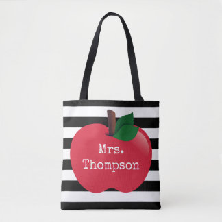 Personalized Striped Tote for Teachers