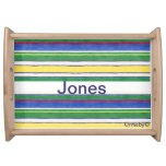 Personalized Striped tray Food Tray