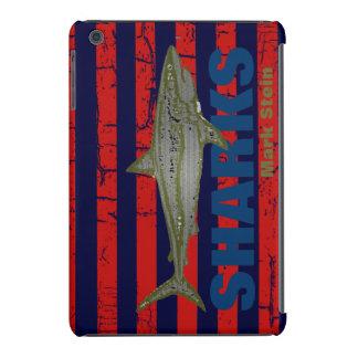 personalized striped wild shark iPad mini cover